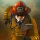 Постоянная ссылка на Создаем рисунок пожарного вPhotoshop