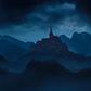 Постоянная ссылка на Мрачный пейзаж с замком в AdobePhotoshop