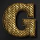 Постоянная ссылка на Элегантный золотой текст в AdobePhotoshop