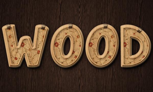 Постоянная ссылка на Создаем деревянный декорированный текст вPhotoshop