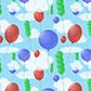Постоянная ссылка на Простой паттерн с воздушными шарами в AdobeIllustrator