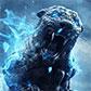 Постоянная ссылка на Каменный тигр в голубом пламени в AdobePhotoshop