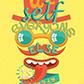 Постоянная ссылка на Яркий типографический постер в AdobeIllustrator