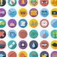 Постоянная ссылка на Новые наборы плоских иконок для вашегодизайна