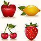 Постоянная ссылка на Бесплатные фрукты в векторномформате