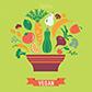 Постоянная ссылка на Бесплатный вектор на вегетарианскуютему
