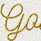 Постоянная ссылка на Текст из золотых блесток в AdobePhotoshop