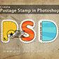 Постоянная ссылка на Текстовый эффект почтовой марки в AdobePhotoshop