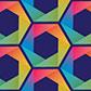 Постоянная ссылка на Радужный паттерн из шестиугольников в AdobeIllustrator