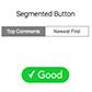Постоянная ссылка на Почему сегментированные кнопки лучше для сортировкиконтента
