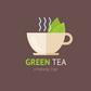 Постоянная ссылка на Плоский логотип с чашкой чая в AdobeIllustrator