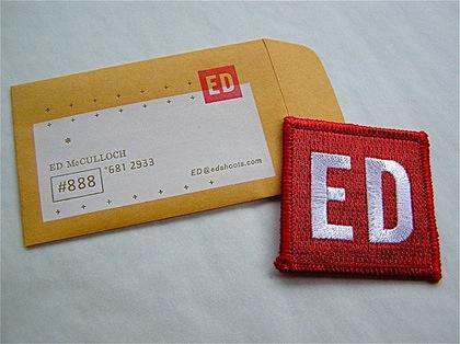 визитка из ткани