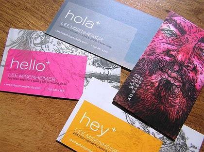 визитки с рисунками