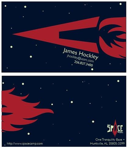 черно-красные визитки