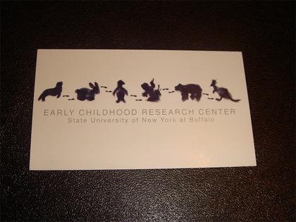 визитка с животными