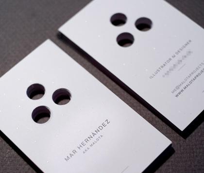 визитки с дырочками