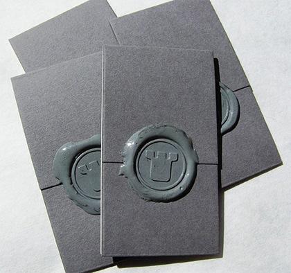 визитка с печатью