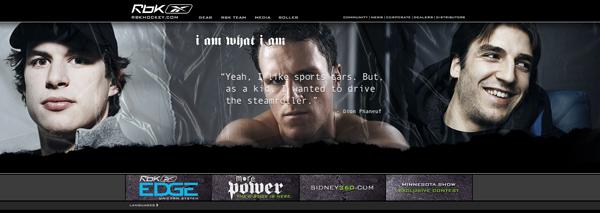 дизайн сайта о хоккейном спорте