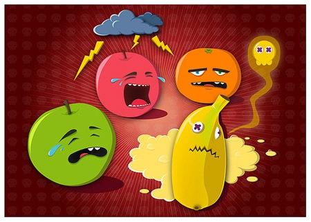 векторные фрукты