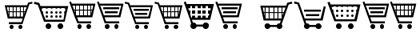 шрифты-карзины для покупок
