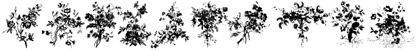 шрифты-цветы