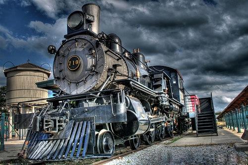 поезд в hdr