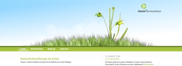 цветы и трава в веб-дизайне
