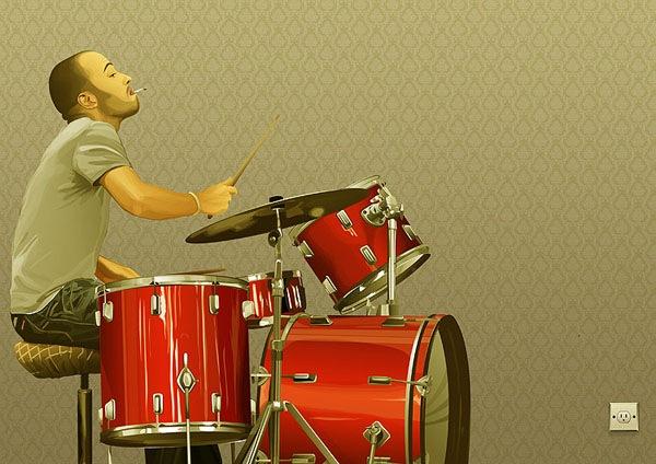 иллюстрация барабанщика