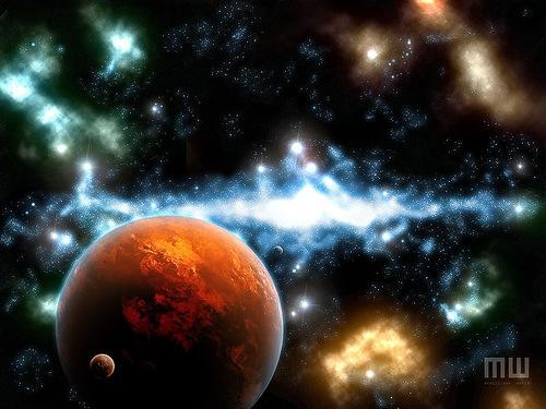 блестящий космос