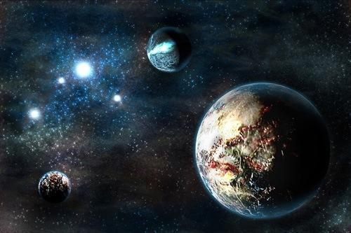 глубокий синий космос