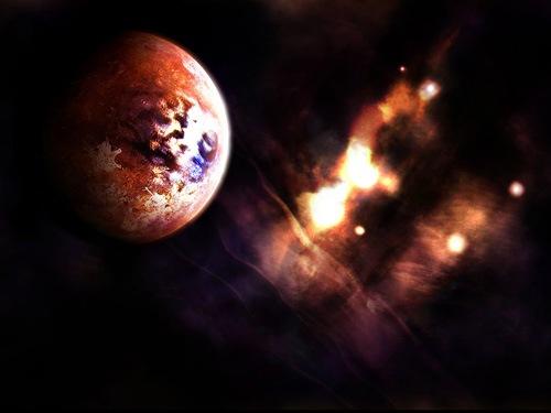 летящая планета