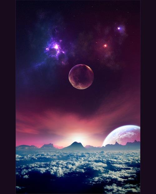 облака и планеты