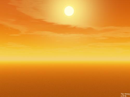 закат солнца