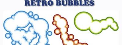 векторные ретро пузыри