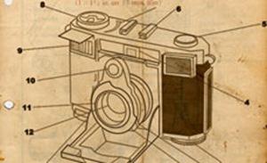 векторный ретро фотоаппарат