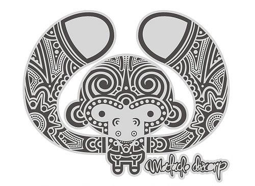 черно-белая обезьянка