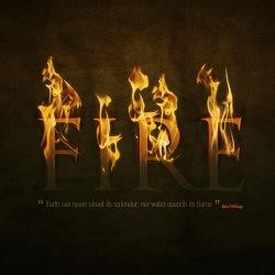 Драмматический текст в огне