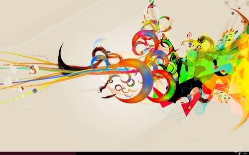 яркие абстрактные иллюстрации