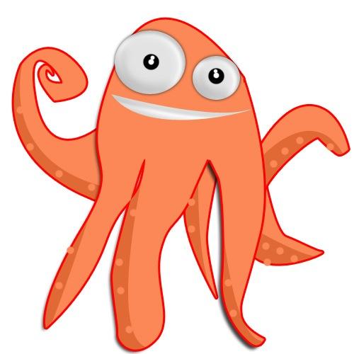 мультипликационный осьминог