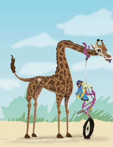 векторный жираф