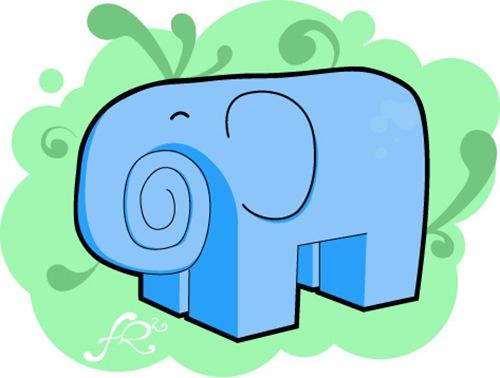 векторный слон