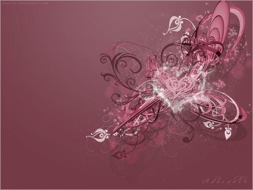 обои в розовых тонах