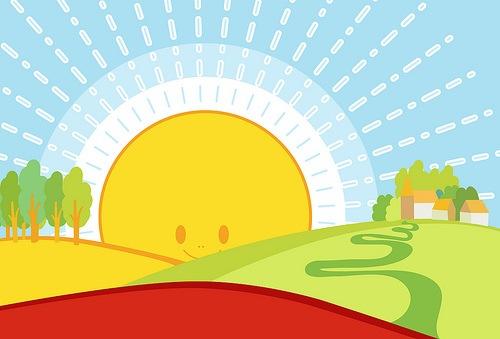 векторное яркое солнце
