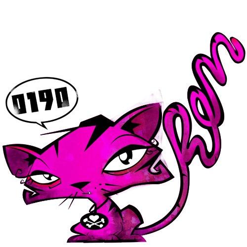 яркая векторная кошка