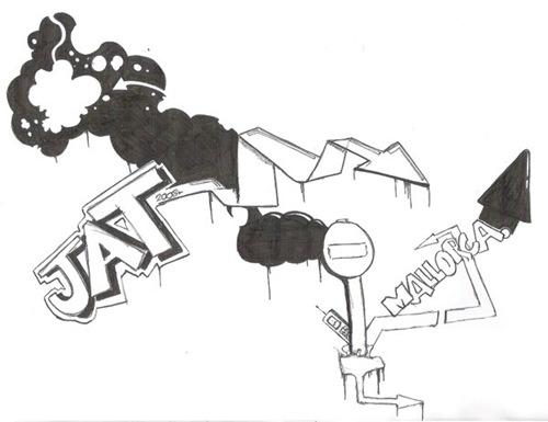 иллюстрация в стиле графити