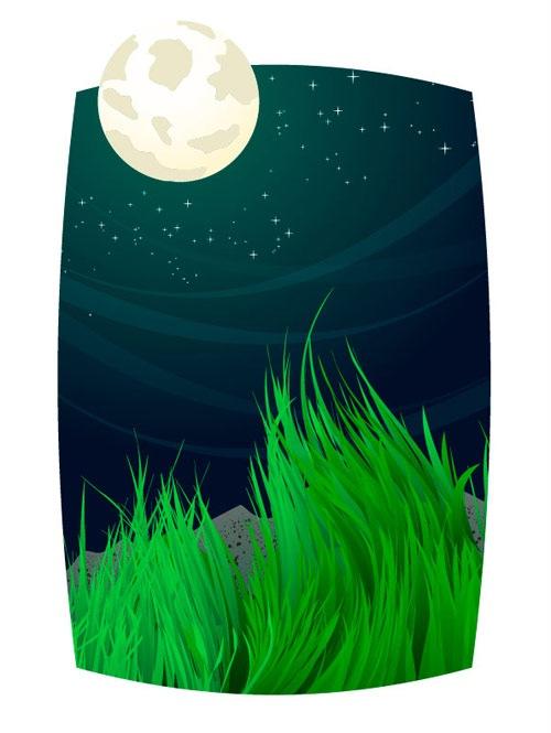 луна в векторе