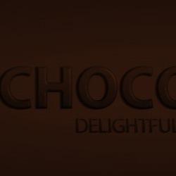 Текст из шоколада