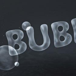 Текст из бульбачек