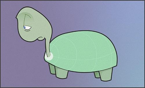 грустная черепаха