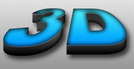 3D текстовый эффект